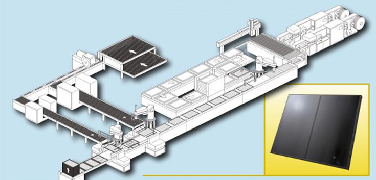 薄膜太陽電池モジュール組立ライン